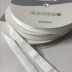Shindo Elastic Tape in White ( Dyeable)